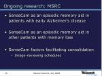 ongoing research msrc