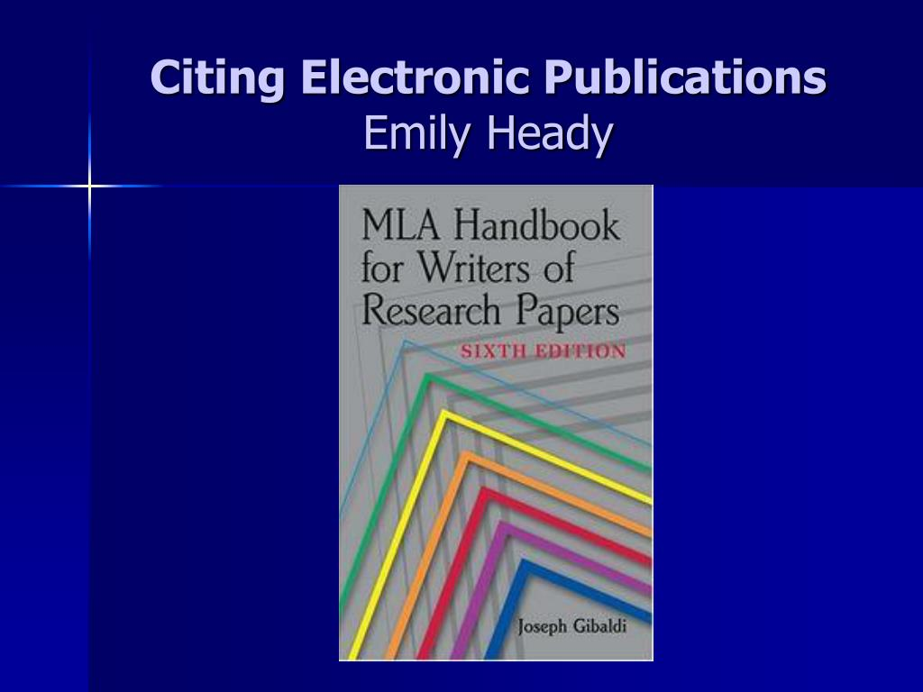 Citing Electronic Publications