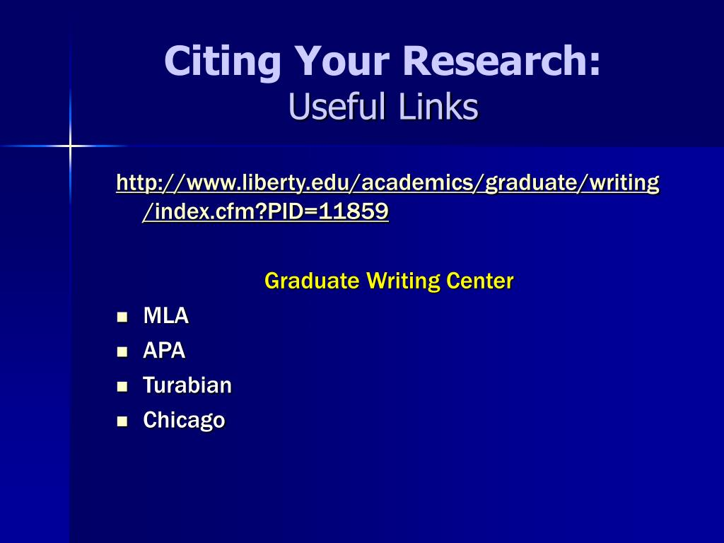 Citing Your Research: