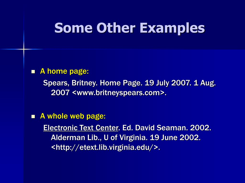 Some Other Examples