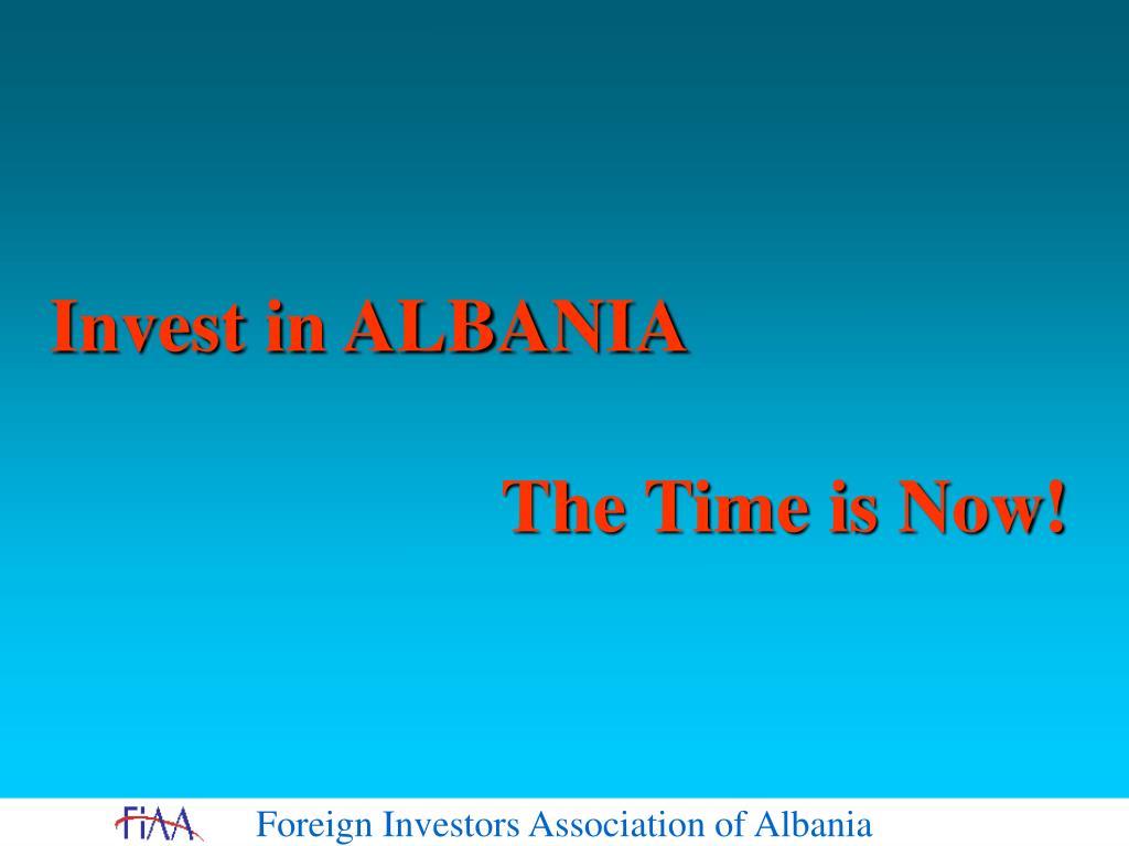 Invest in ALBANIA