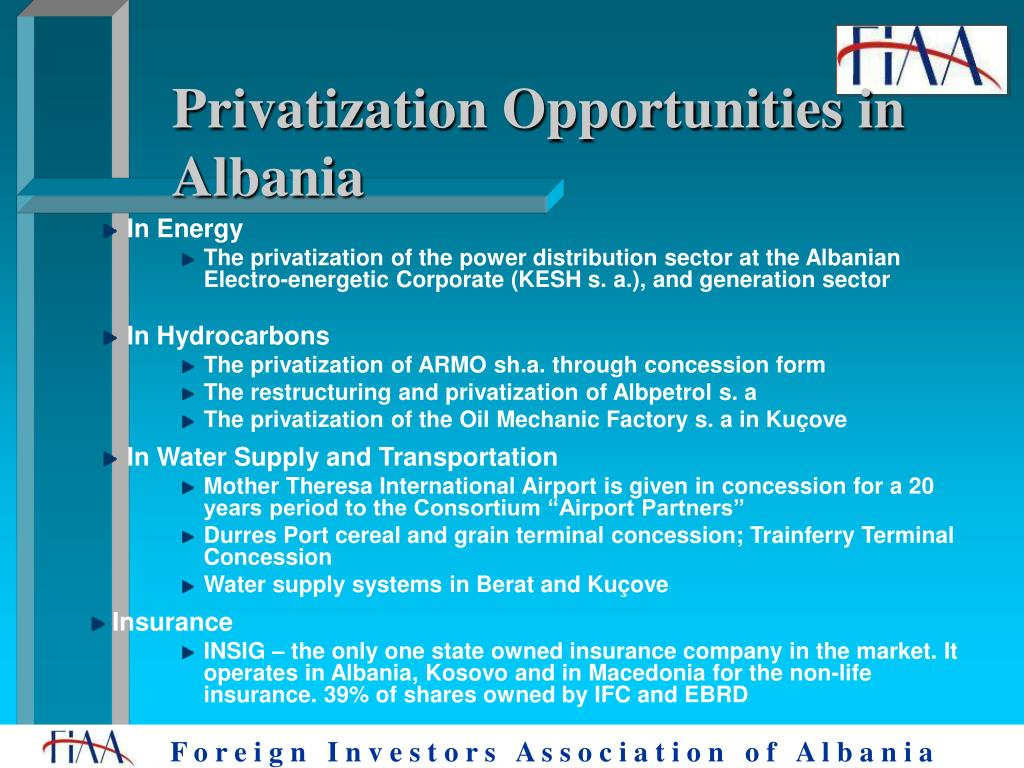 Privatization Opportunities in Albania