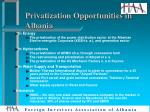 privatization opportunities in albania