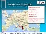 where we are located