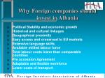 why foreign companies should invest in albania