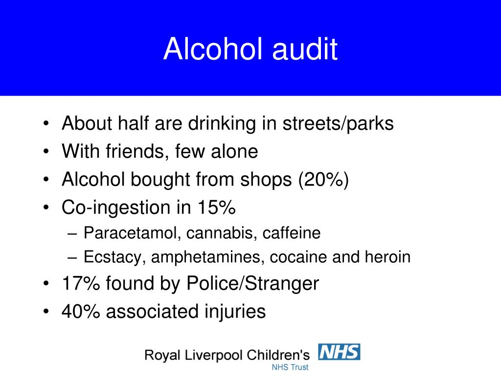 Alcohol audit