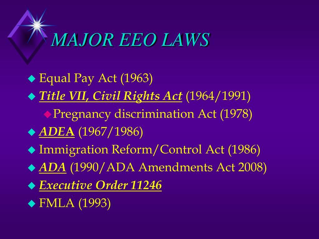 MAJOR EEO LAWS