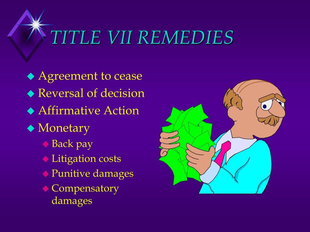 TITLE VII REMEDIES