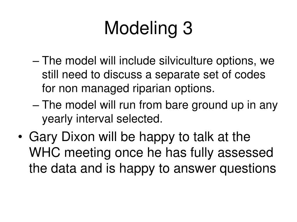 Modeling 3