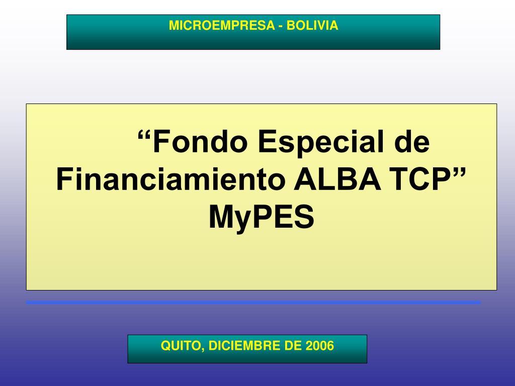 MICROEMPRESA - BOLIVIA