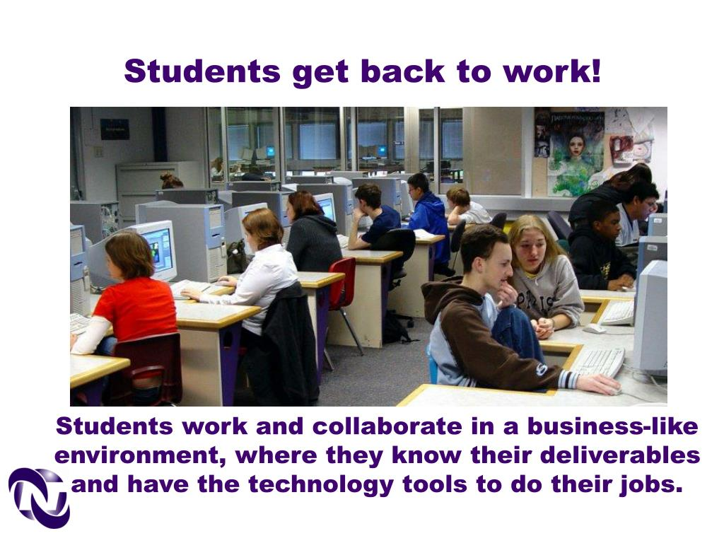 Students get back to work!