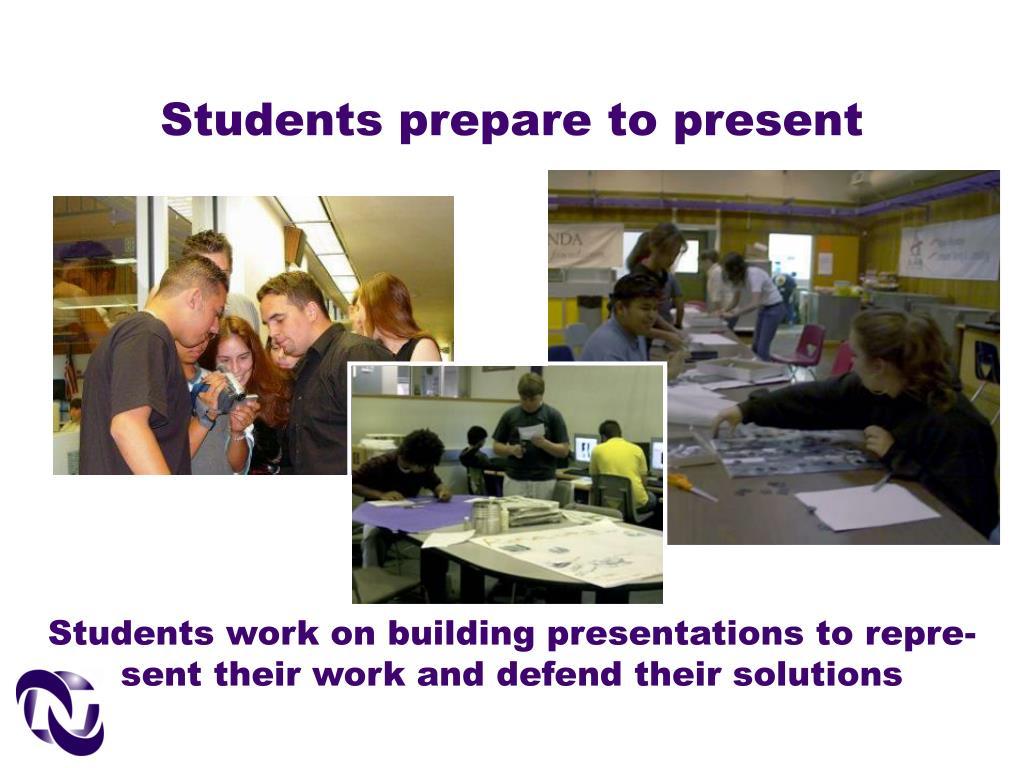 Students prepare to present