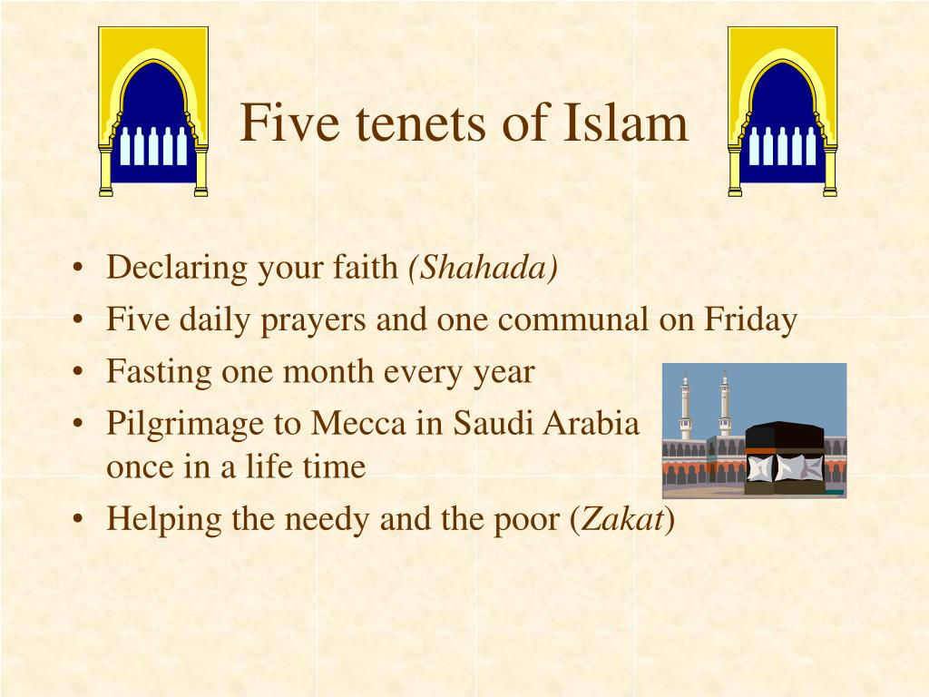 Five tenets of Islam