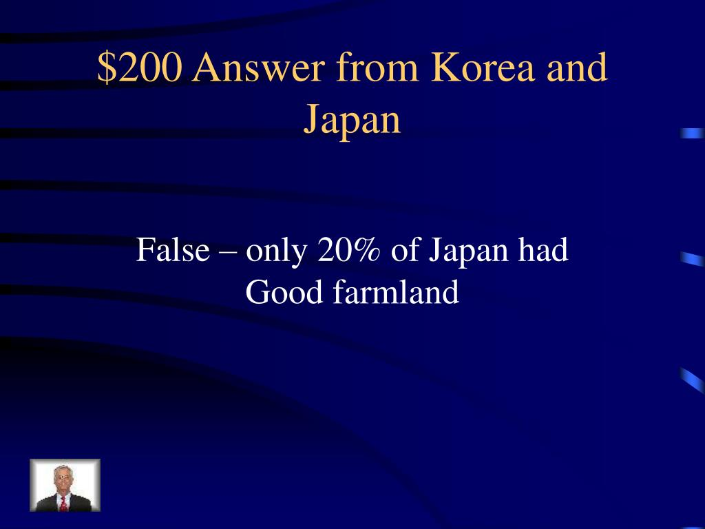 $200 Answer from Korea and Japan