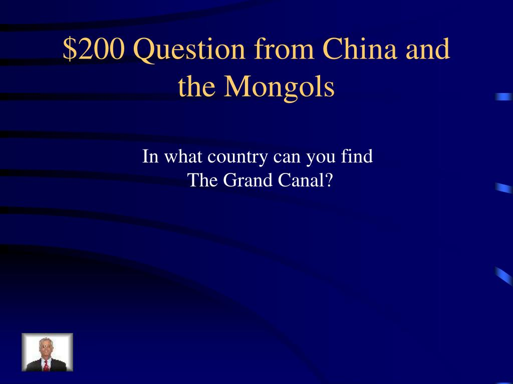 $200 Question from China and the Mongols