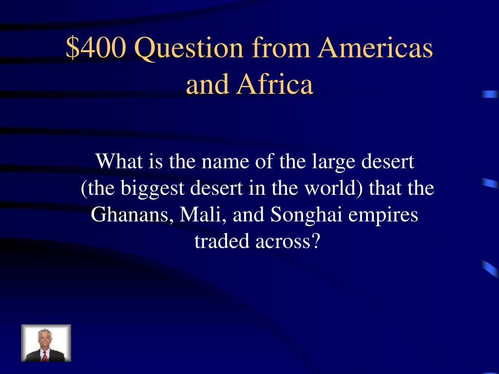 $400 Question from Americas and Africa