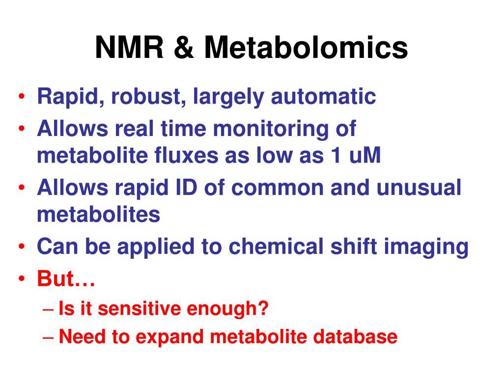 NMR & Metabolomics
