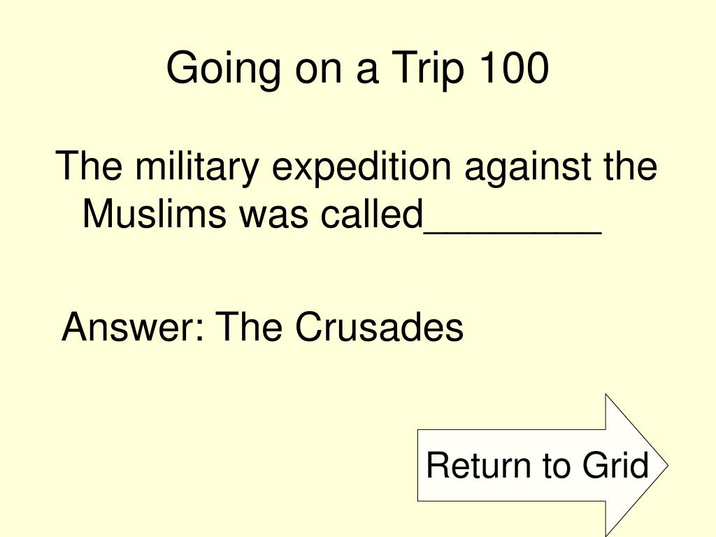 Going on a Trip 100
