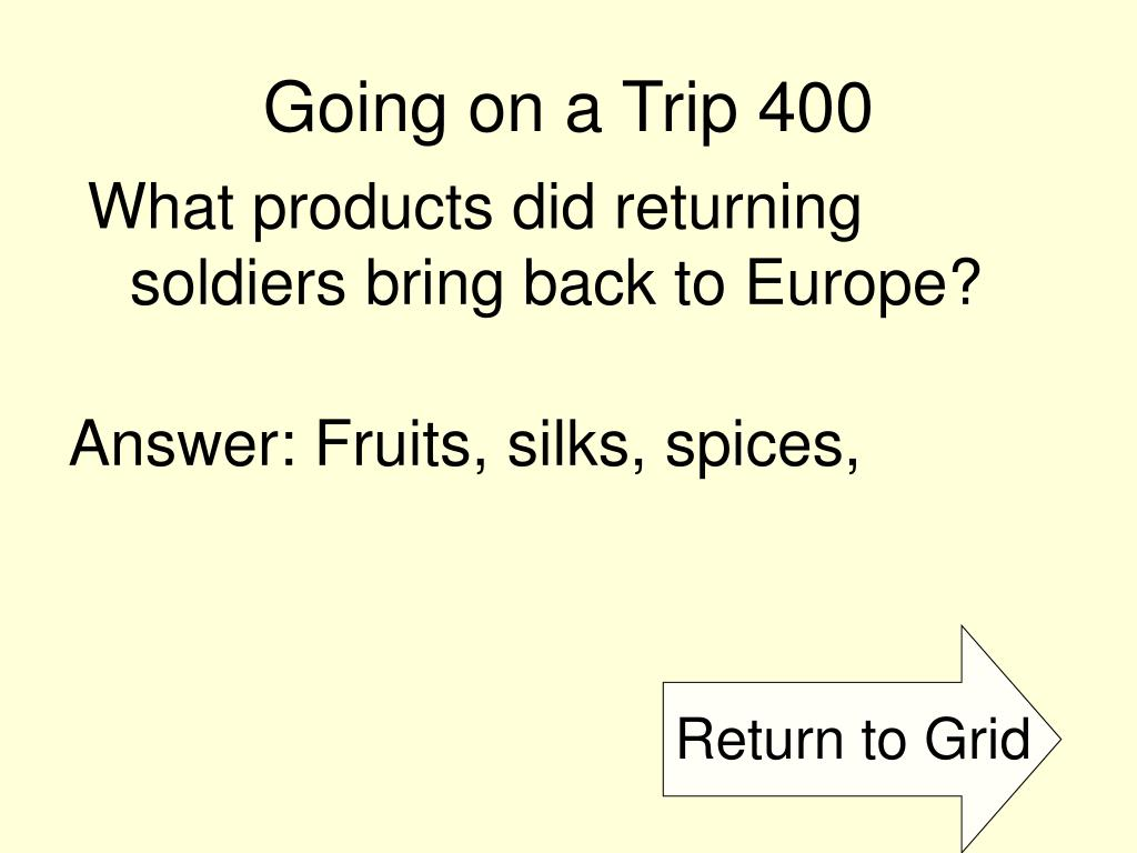 Going on a Trip 400