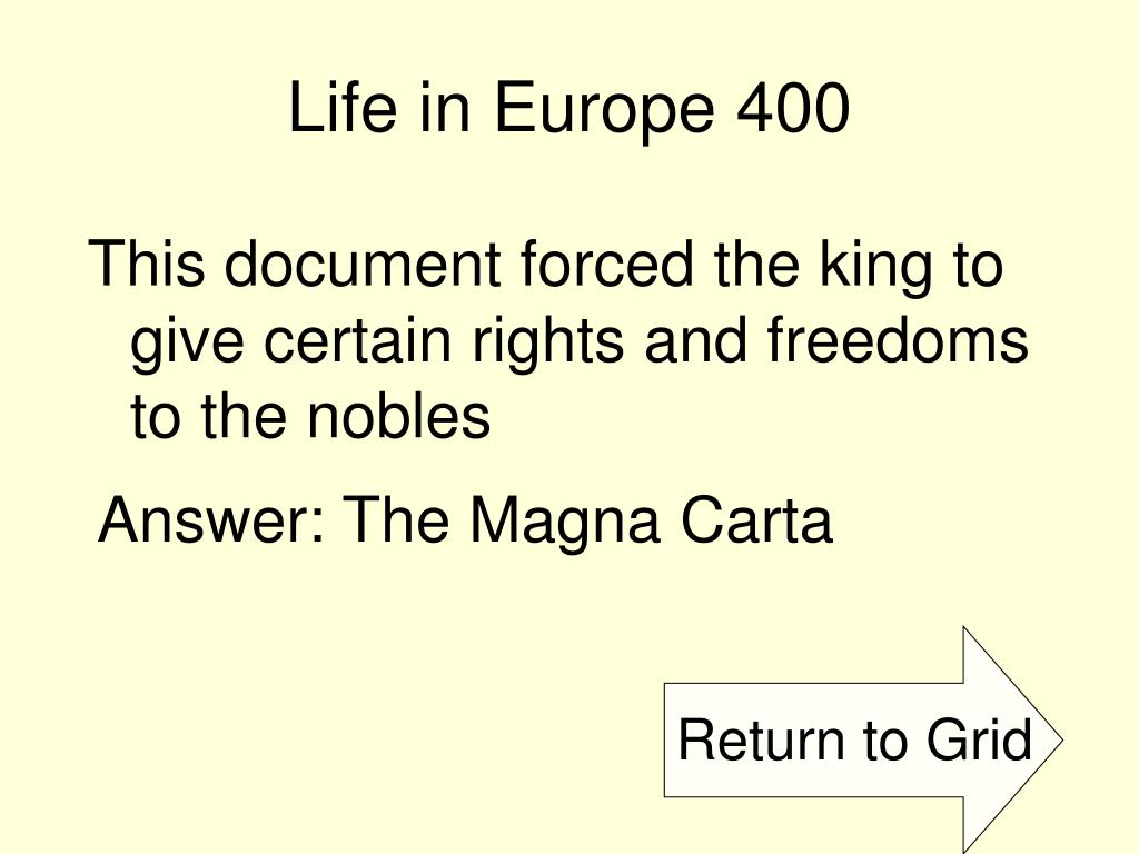 Life in Europe 400