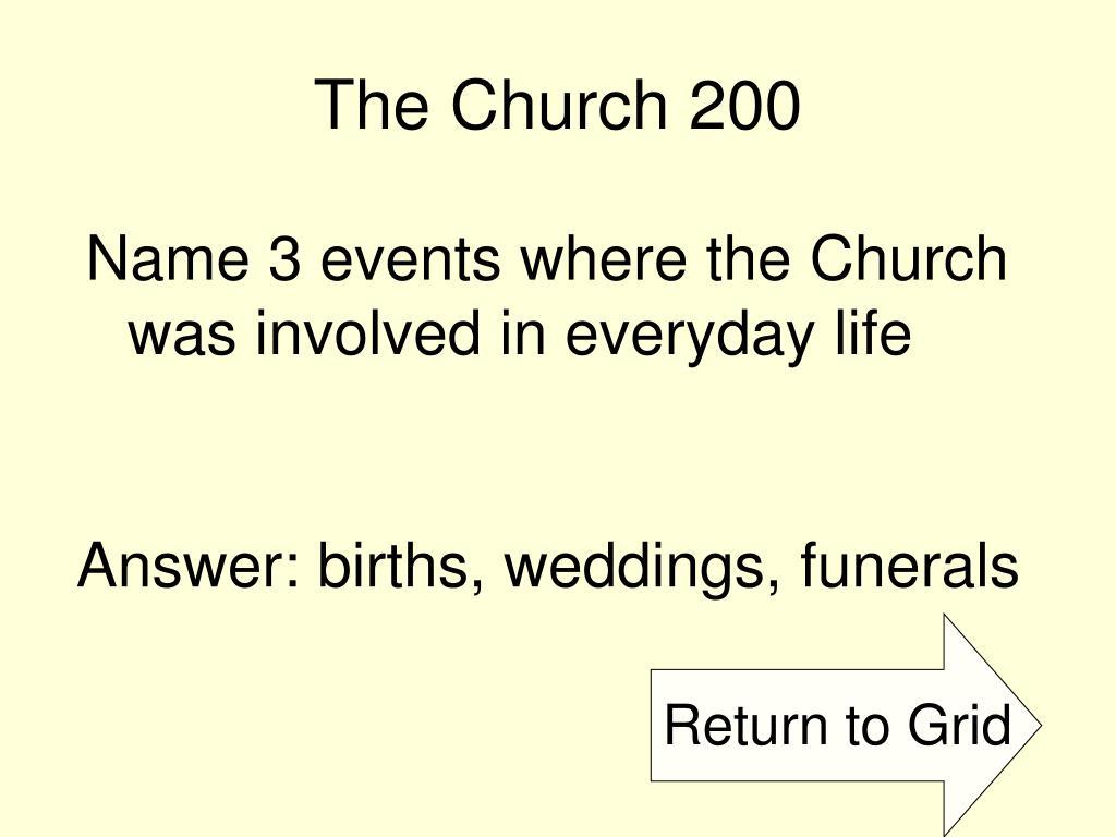 The Church 200