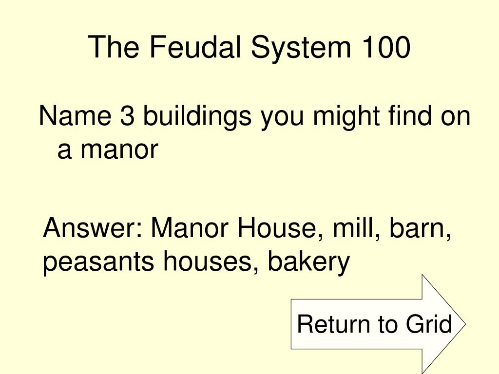 The Feudal System 100