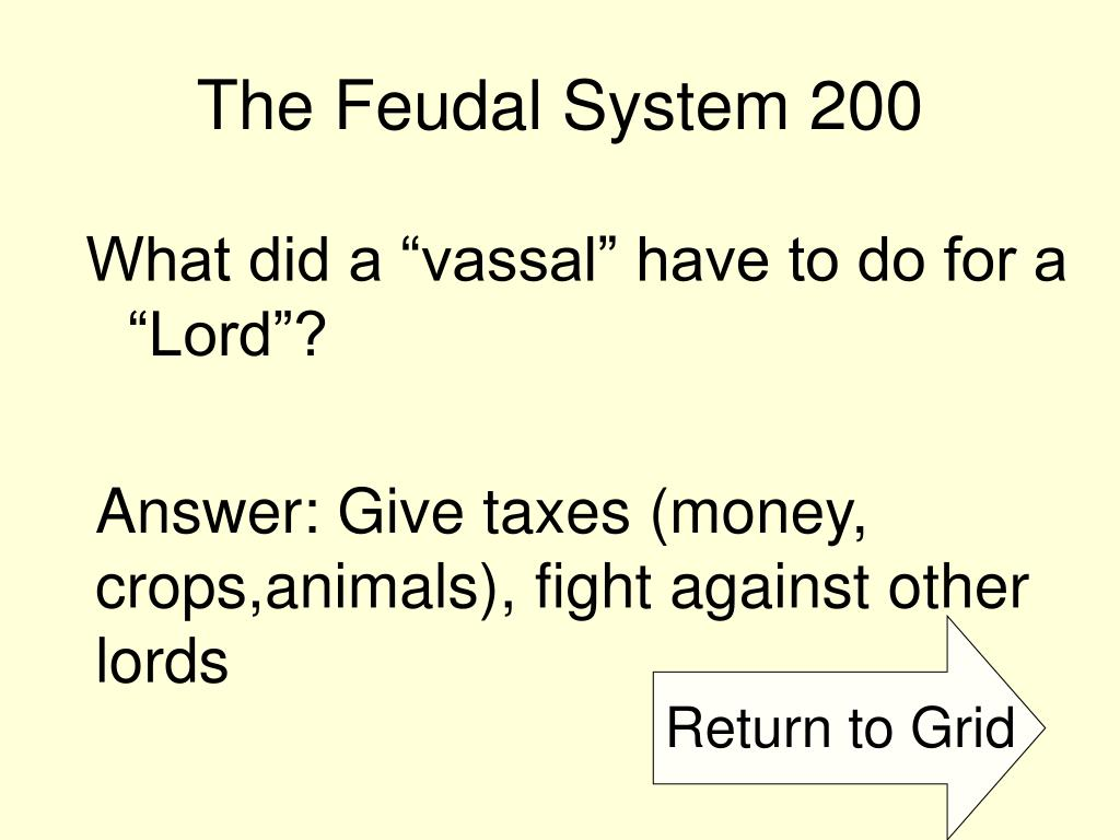The Feudal System 200