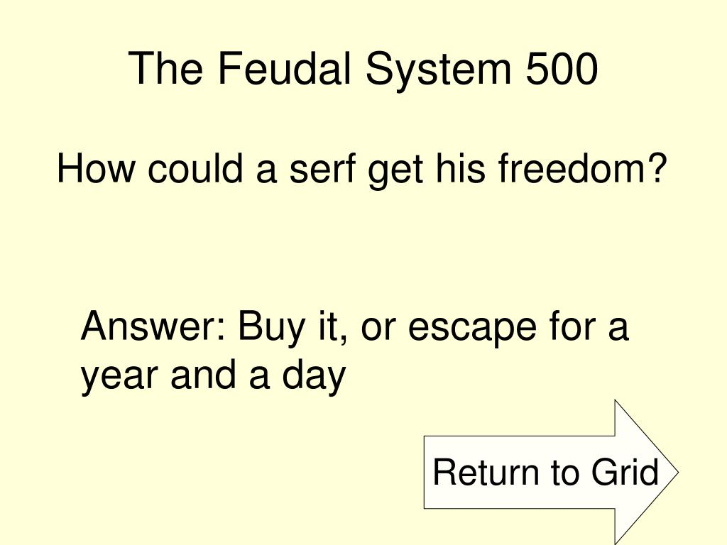 The Feudal System 500