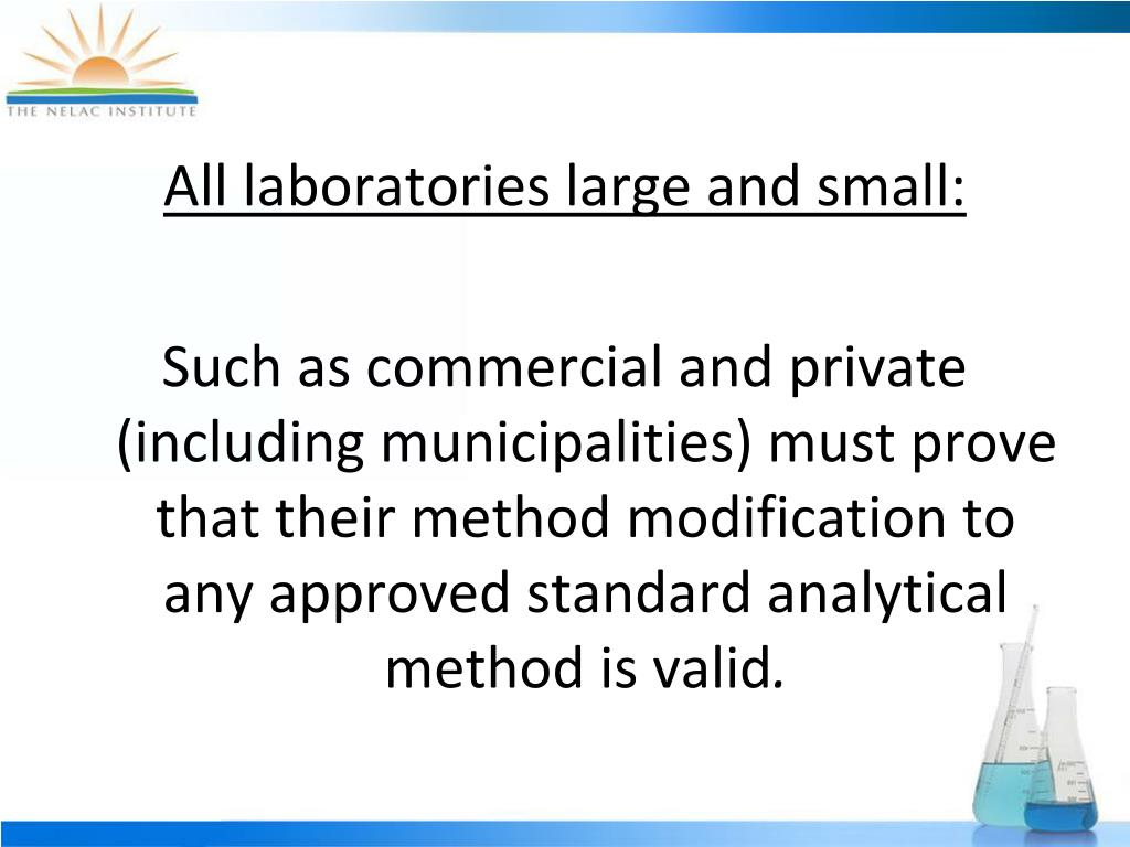 All laboratories large and small: