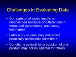 challenges in evaluating data