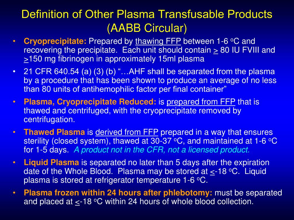 Definition of Other Plasma Transfusable Products