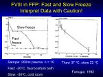 fviii in ffp fast and slow freeze interpret data with caution