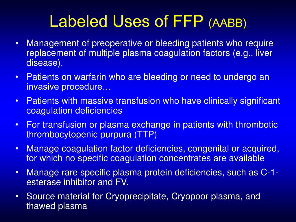 Labeled Uses of FFP