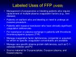 labeled uses of ffp aabb