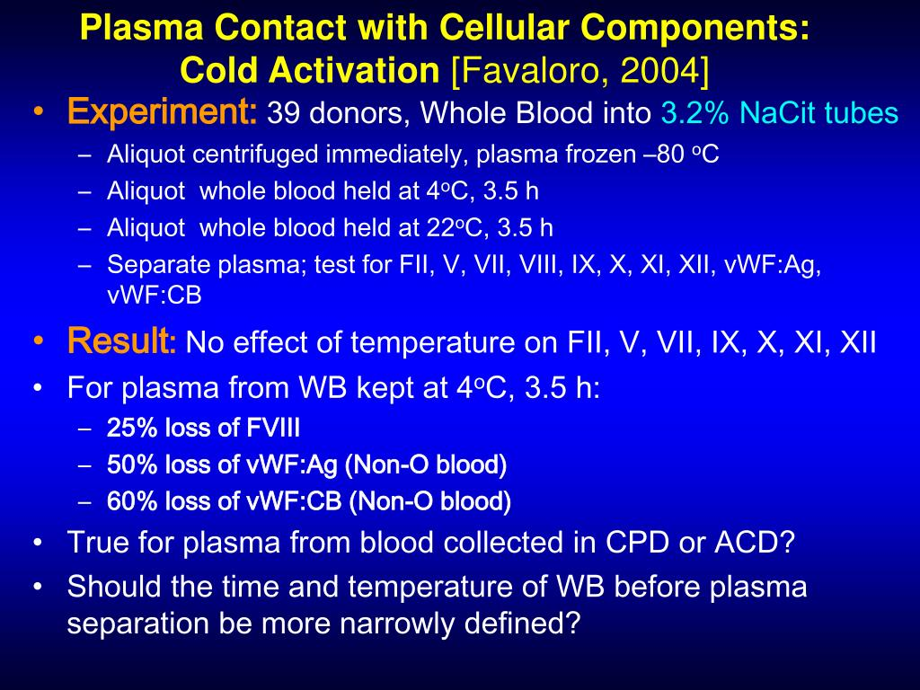 Plasma Contact with Cellular Components: