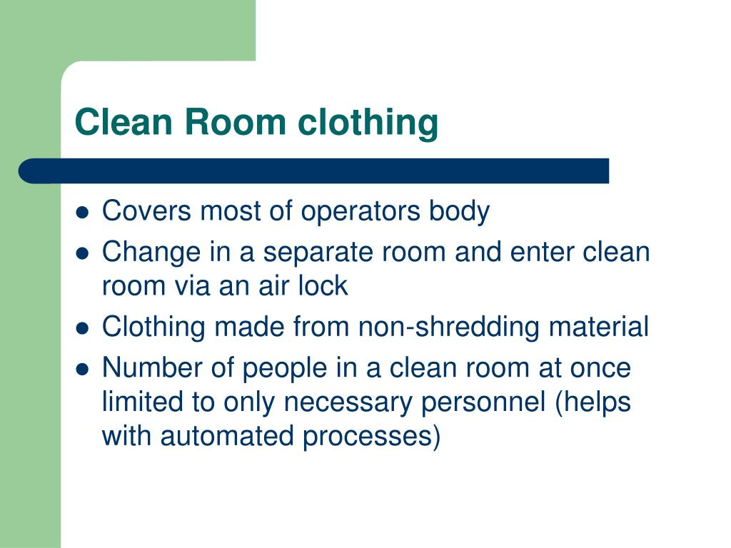 Clean Room clothing