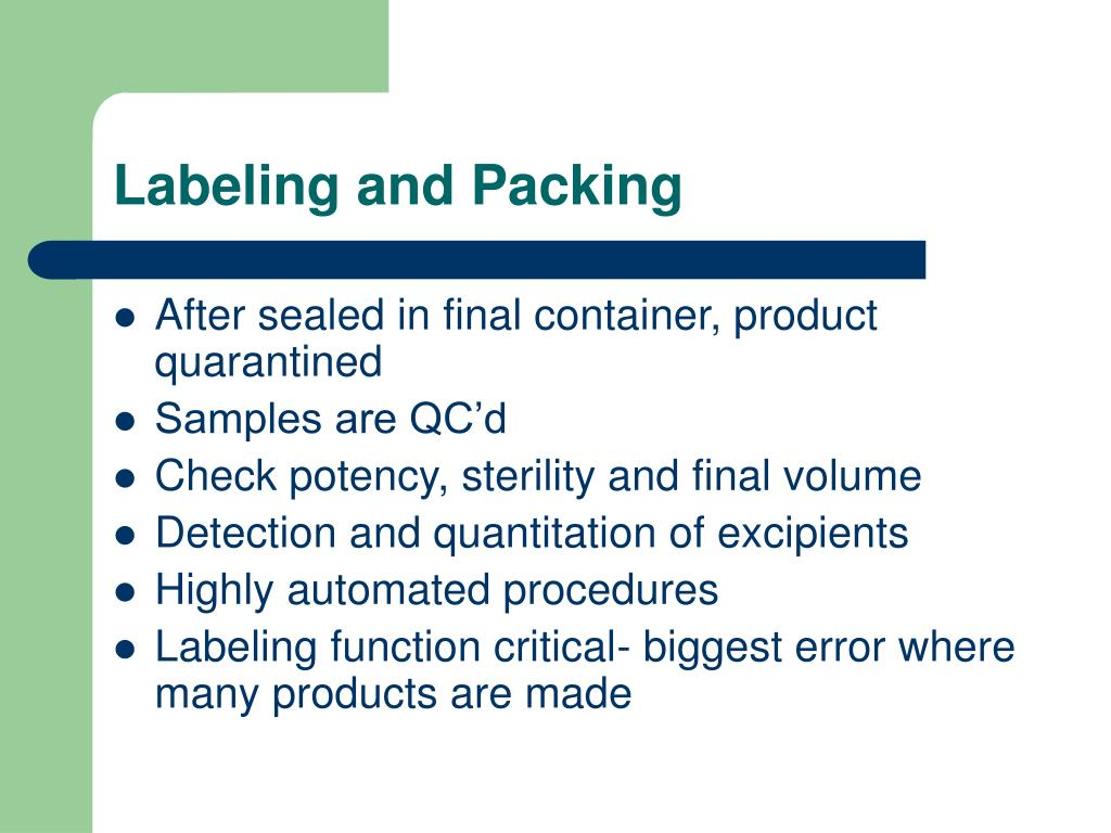 Labeling and Packing