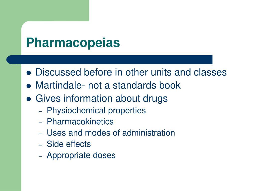 Pharmacopeias