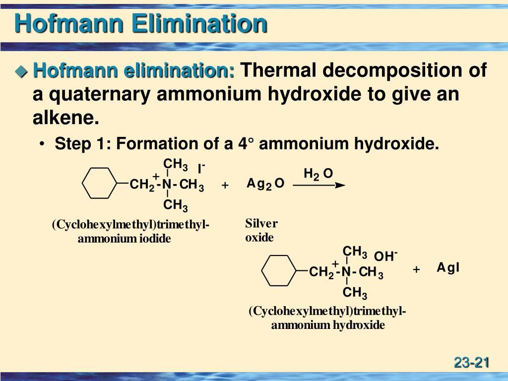 Hofmann Elimination