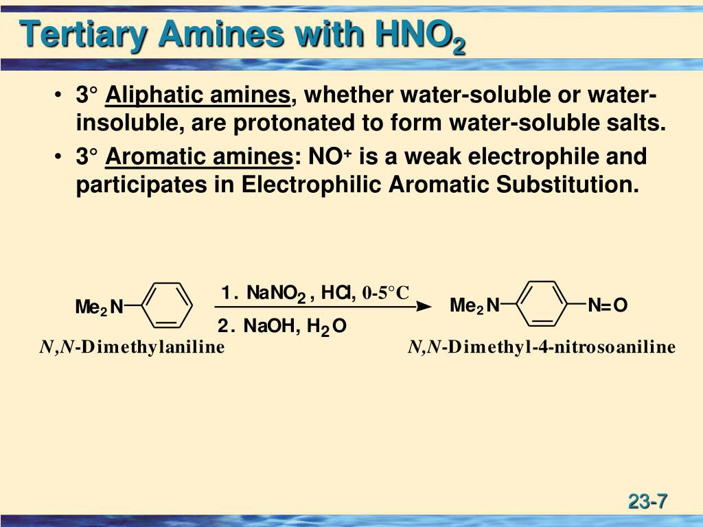Tertiary Amines with HNO