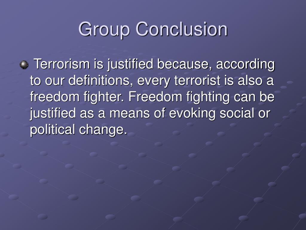 Group Conclusion