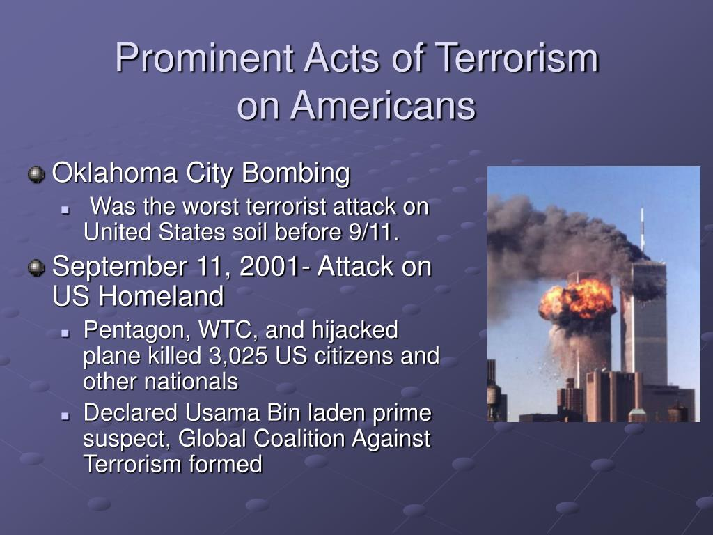 Prominent Acts of Terrorism