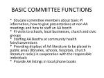 basic committee functions