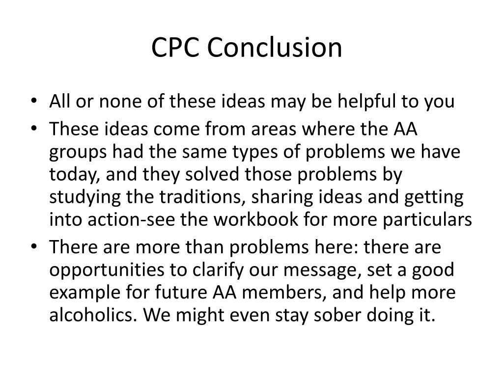 CPC Conclusion