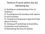 perform pi work within the aa fellowship by