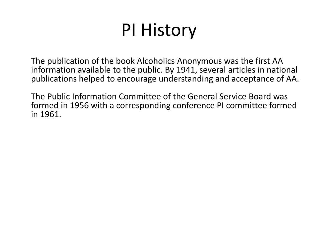 PI History