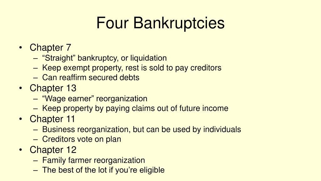 Four Bankruptcies