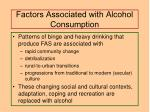 factors associated with alcohol consumption