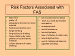 risk factors associated with fas