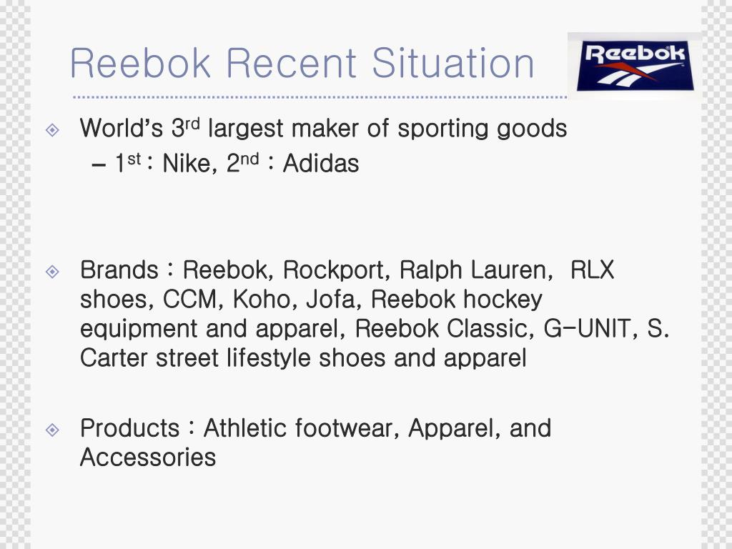 Reebok Recent Situation